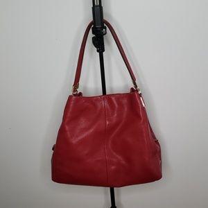 Coach Madison Pheobe Leather Shoulder Bag Red